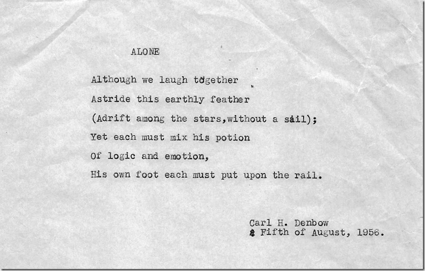 Alone (poem by CHD)