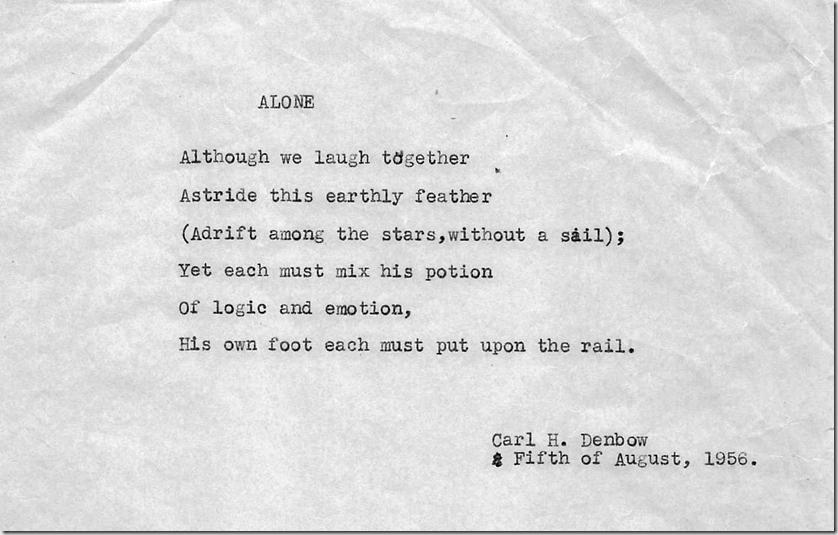 Alone (poem by CHD)